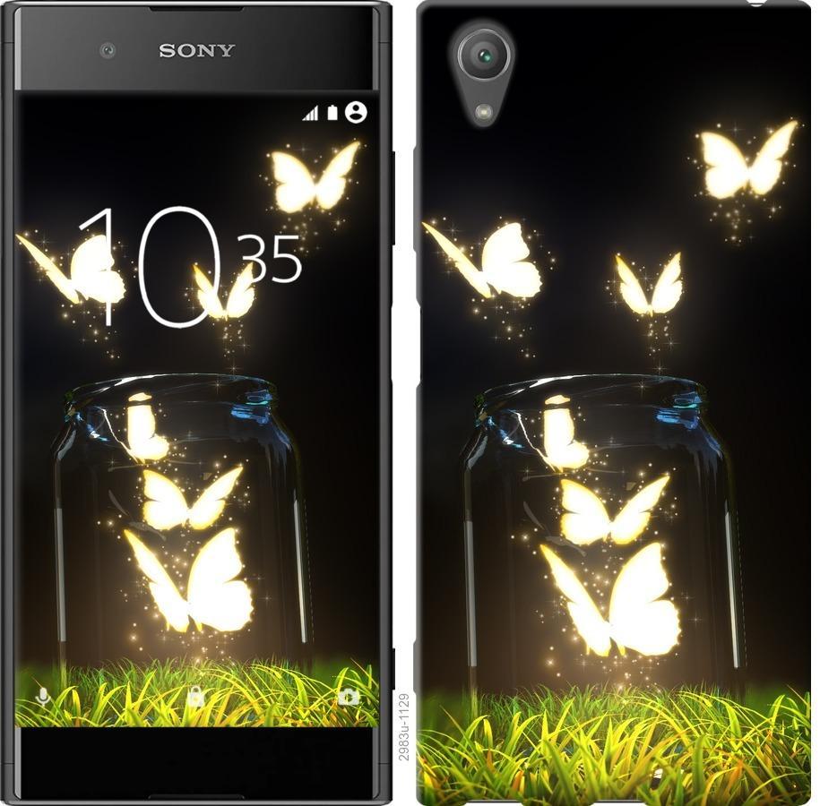Чехол на Sony Xperia XA1 Plus G3412 Светящиеся бабочки