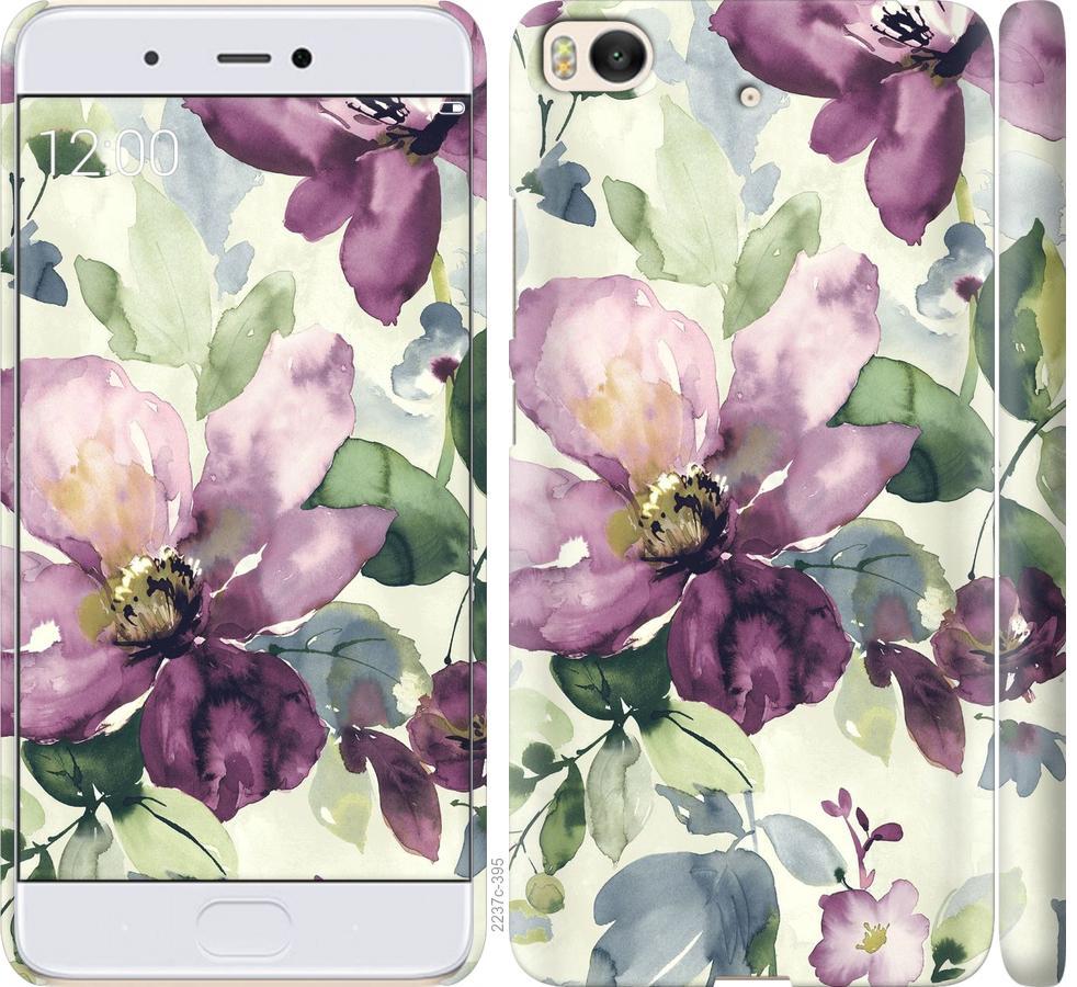 Чехол на Xiaomi Mi 5s Цветы акварелью