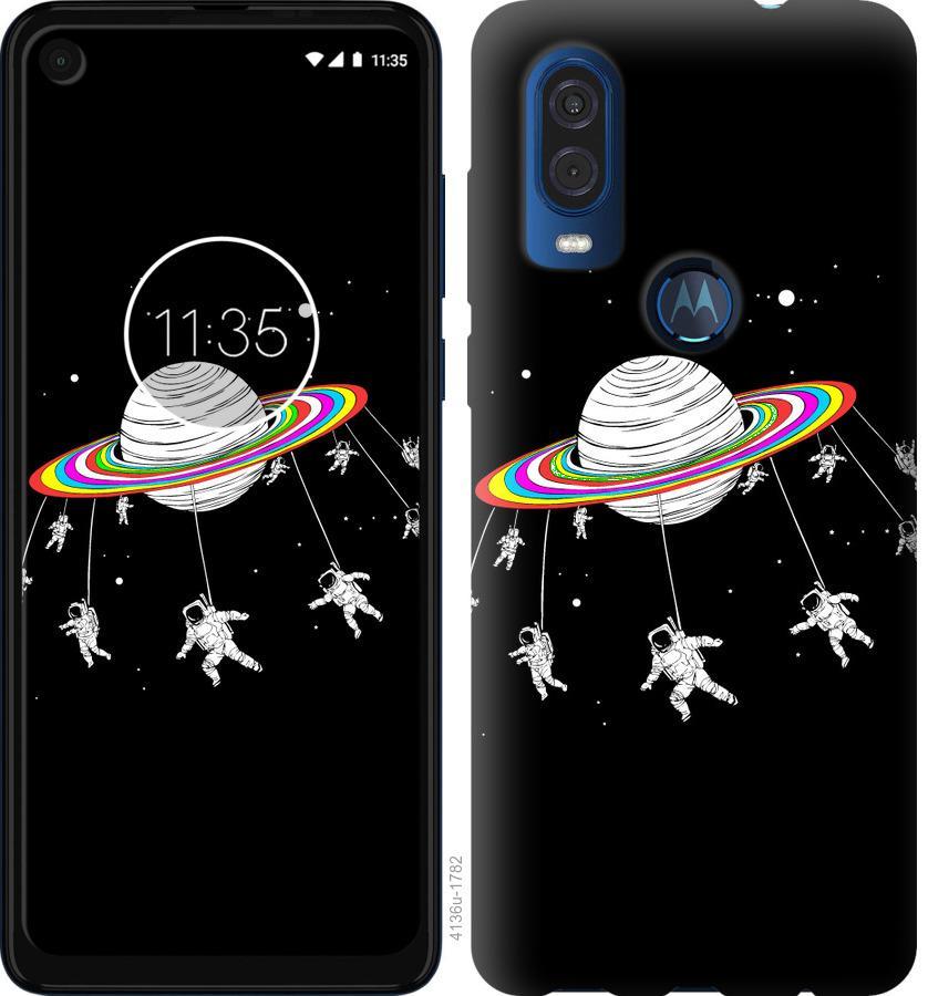 Чехол на Motorola One Vision Лунная карусель