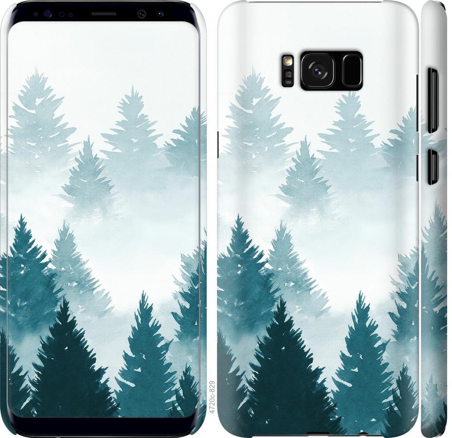 Чехол на Samsung Galaxy S8 Акварельные Елки