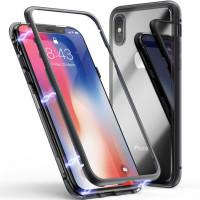 Купить Metal+Glass чехол с магнитной защелкой для Apple iPhone X (5.8 ), Epik