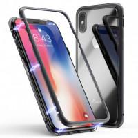 Купить Metal+Glass чехол с магнитной защелкой для Apple iPhone XS (5.8 ), Epik
