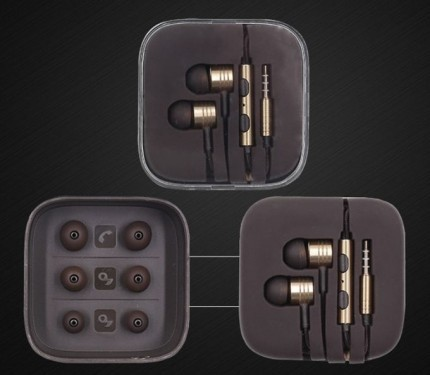 Epik / Металлические наушники JX с плетеным проводом и пультом управления