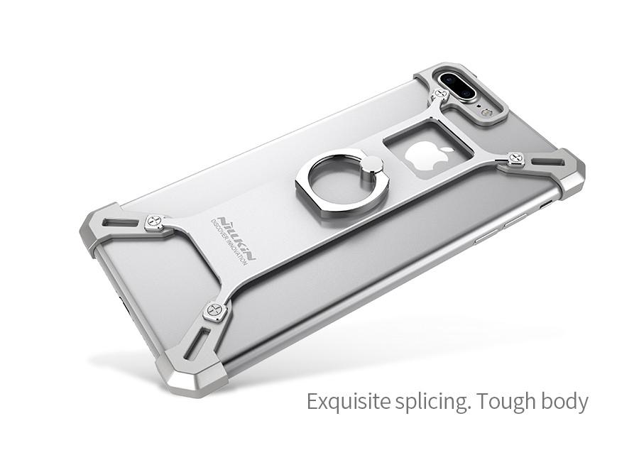 алюминиевый бампер на айфон 8 с кольцом