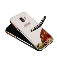 Купить Металлический бампер с акриловой вставкой с зеркальным покрытием для Samsung Galaxy J2 Pro (2018), Epik