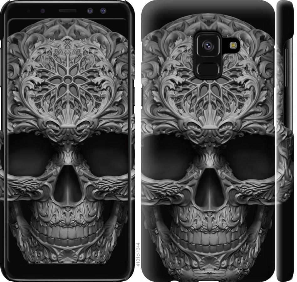 Чехол на Samsung Galaxy A8 2018 A530F skull-ornament