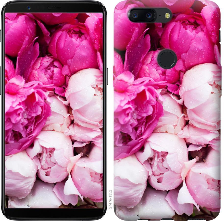 Чехол на OnePlus 5T Розовые пионы