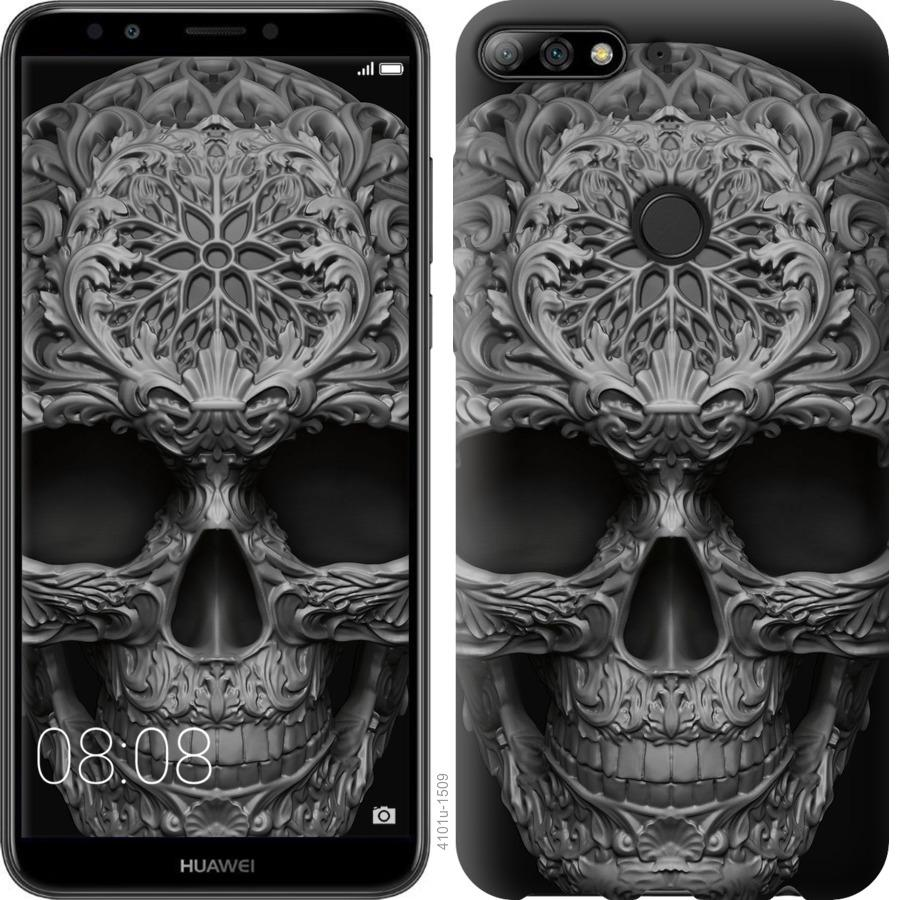 Чехол на Huawei Y7 Prime 2018 skull-ornament