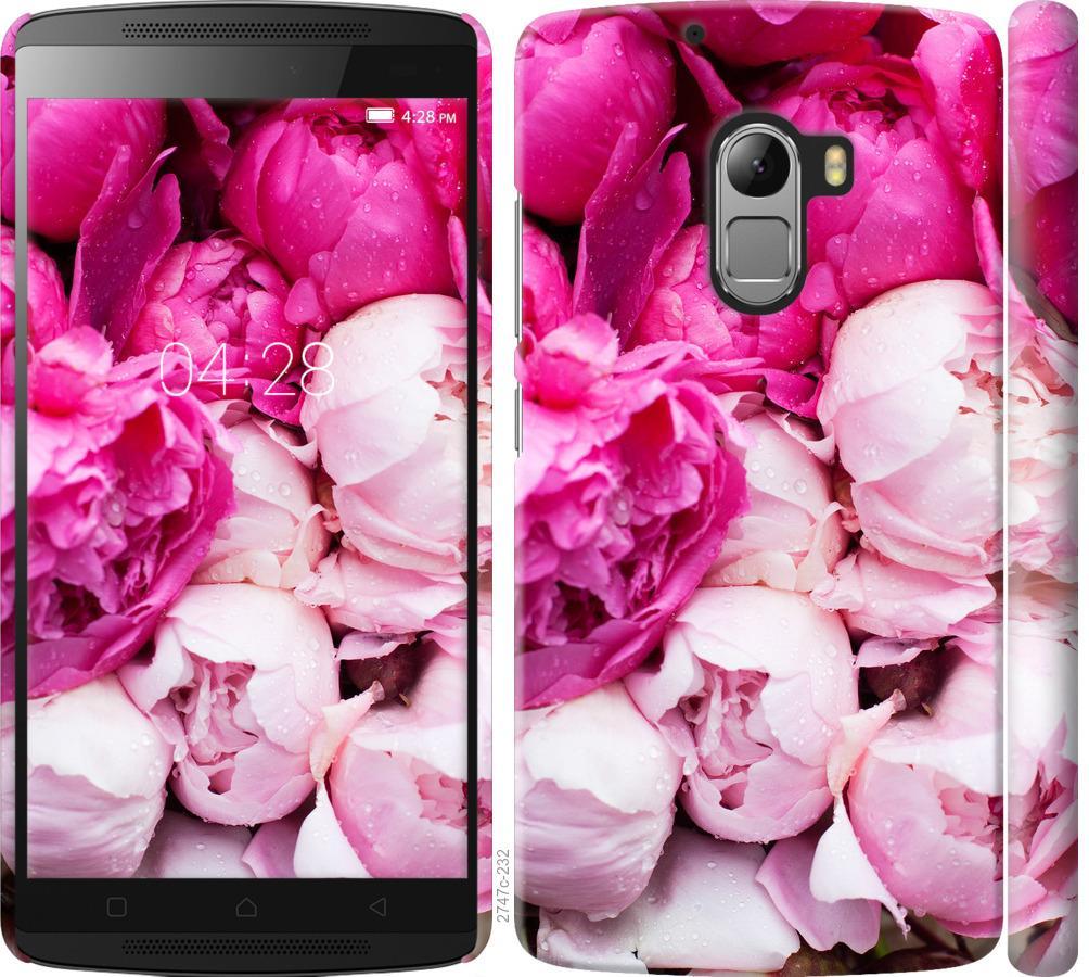 Чехол на Lenovo A7010 Розовые пионы