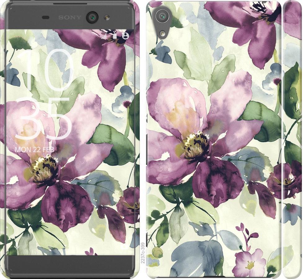 Чехол на Sony Xperia XA F3112 Цветы акварелью