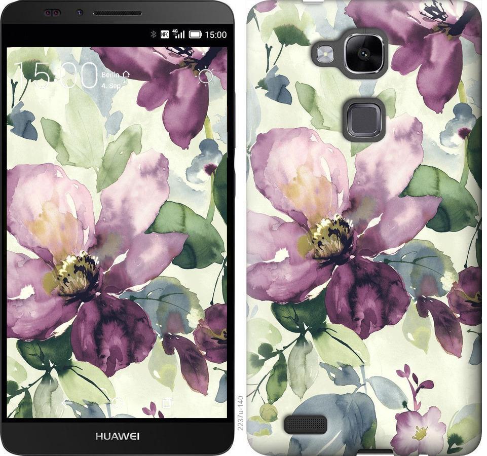 Чехол на Huawei Ascend Mate 7 Цветы акварелью