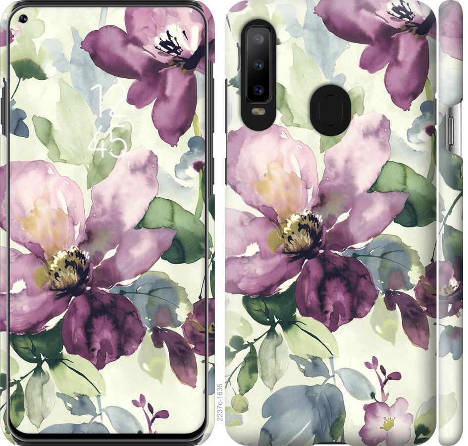 Чехол на Samsung Galaxy A8S Цветы акварелью