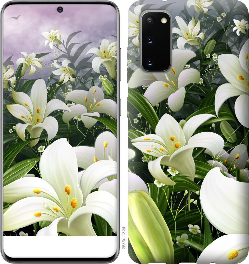 Чехол на Huawei Honor 30 Белые лилии