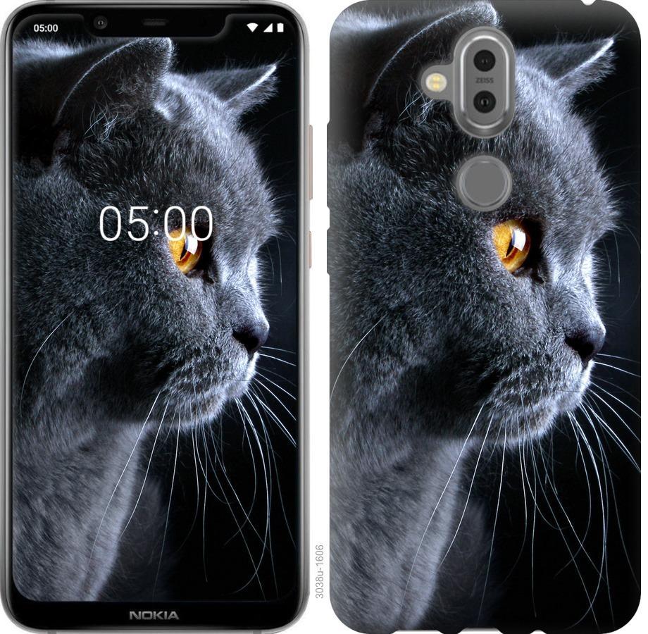 Чехол на Nokia 8.1 Красивый кот