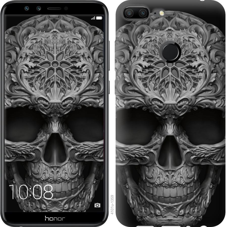 Чехол на Huawei Honor 9i skull-ornament