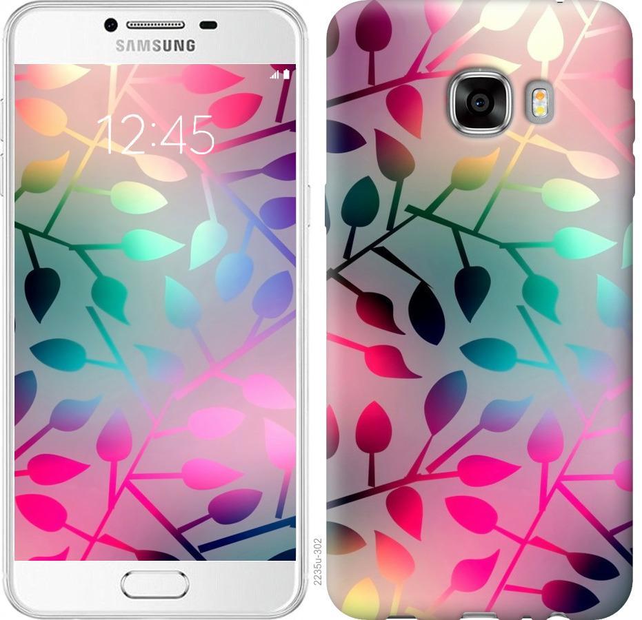 Чехол на Samsung Galaxy C7 C7000 Листья