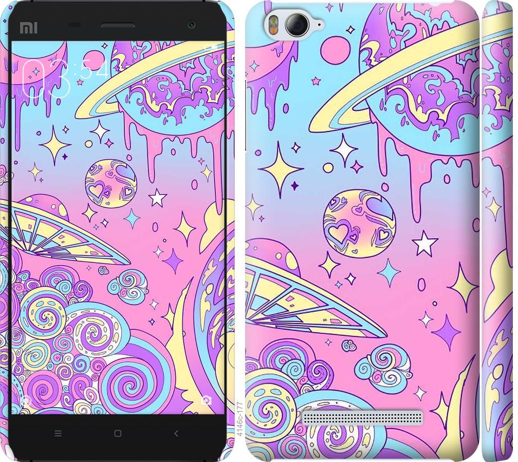 Чехол на Xiaomi Mi4i Розовая галактика