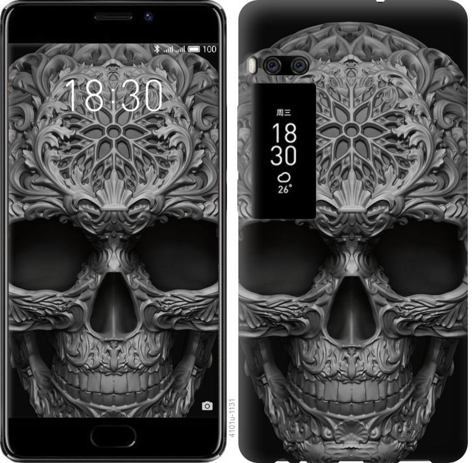 Чехол на Meizu Pro 7 Plus skull-ornament