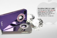 Накладка Dreamplus Eileen Circle Lime Series для iPhone 4/4S (+ пленка) черный на itsell.ua
