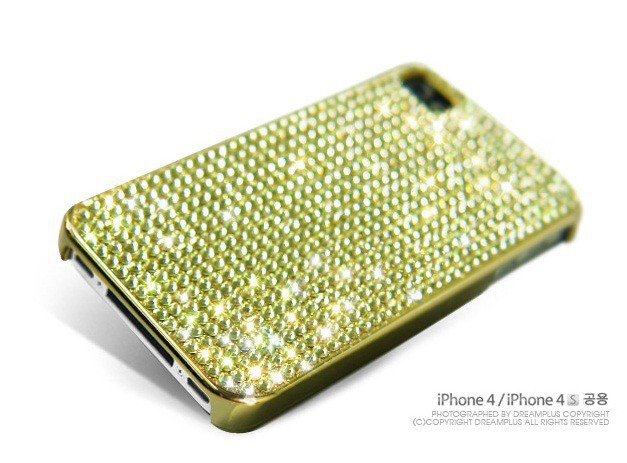 Фото Накладка Dreamplus Eileen Lovely 2 (Swarovski Cut Crystals) для Apple iPhone 4/4S(+ пленка) Золотой на itsell.ua