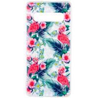 Накладка Glue Case Фламинго для Samsung Galaxy S10