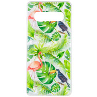 Накладка Glue Case Фламінго для для Samsung Galaxy S10