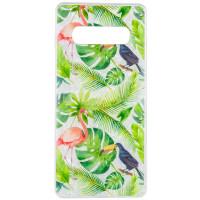 Накладка Glue Case Фламинго для Samsung Galaxy S10+