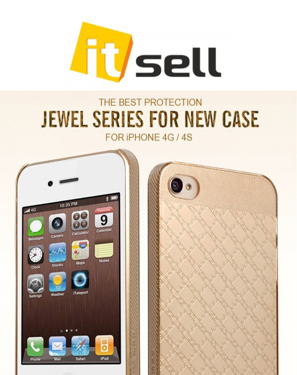 Фото Накладка HelloDeere Jewel Series для Apple iPhone 4/4S Золотой на itsell.ua