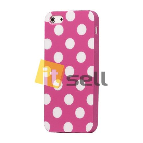 Купить TPU чехол 'Polka dot' для Apple iPhone 5/5S за 129 грн