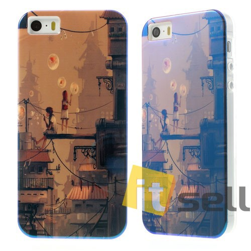 Купить TPU чехол IMD Print 'Boy & Girl Blowing Bubbles' для Apple iPhone 5/5S/SE за 159 грн