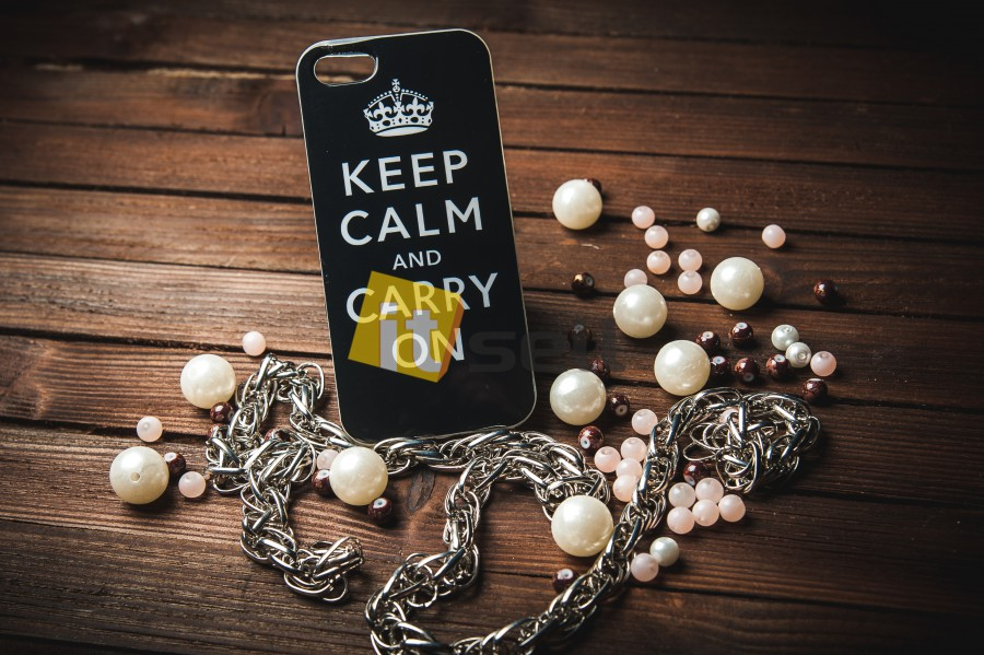 Купить TPU чехол IMD Print 'Keep calm' для Apple iPhone 5/5S/SE за 159 грн