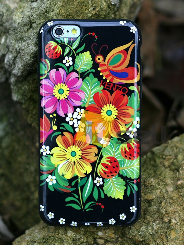 Купить TPU чехол IMD Print Kenzo 'Цветы' для Apple iPhone 6/6s (4.7') за 199 грн