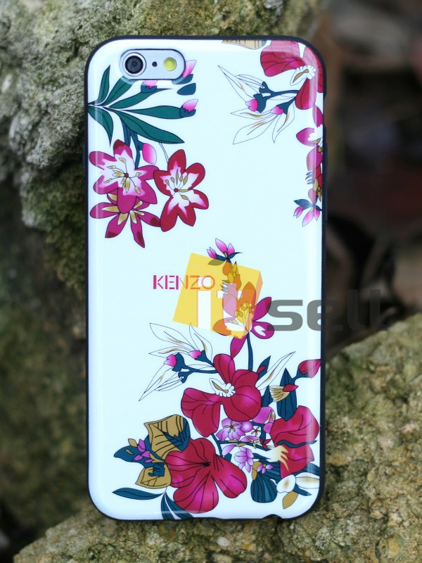 Купить TPU чехол IMD Print Kenzo 'Цветы' для Apple iPhone 6/6s (4.7') за 159 грн