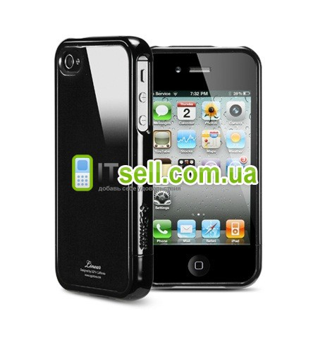 Чехол SGP Linear Color Series для Iphone 4/4S (+ пленка) Черный / Soul Black в магазине itsell.ua