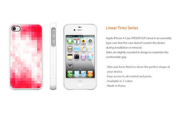 Фото Чехол SGP Linear Tinto Series для iPhone 4/4S Красный / Tinto red на itsell.ua