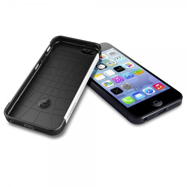 Пластиковая накладка SGP Slim Armor S Series для Apple iPhone 5/5S/SE Белый / Smooth White / SGP10370 на itsell.ua
