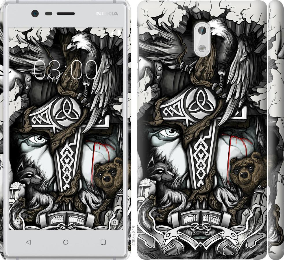 Чехол на Nokia 3 Тату Викинг