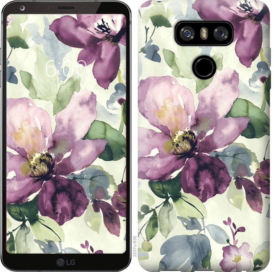 Чехол на LG G6 Цветы акварелью