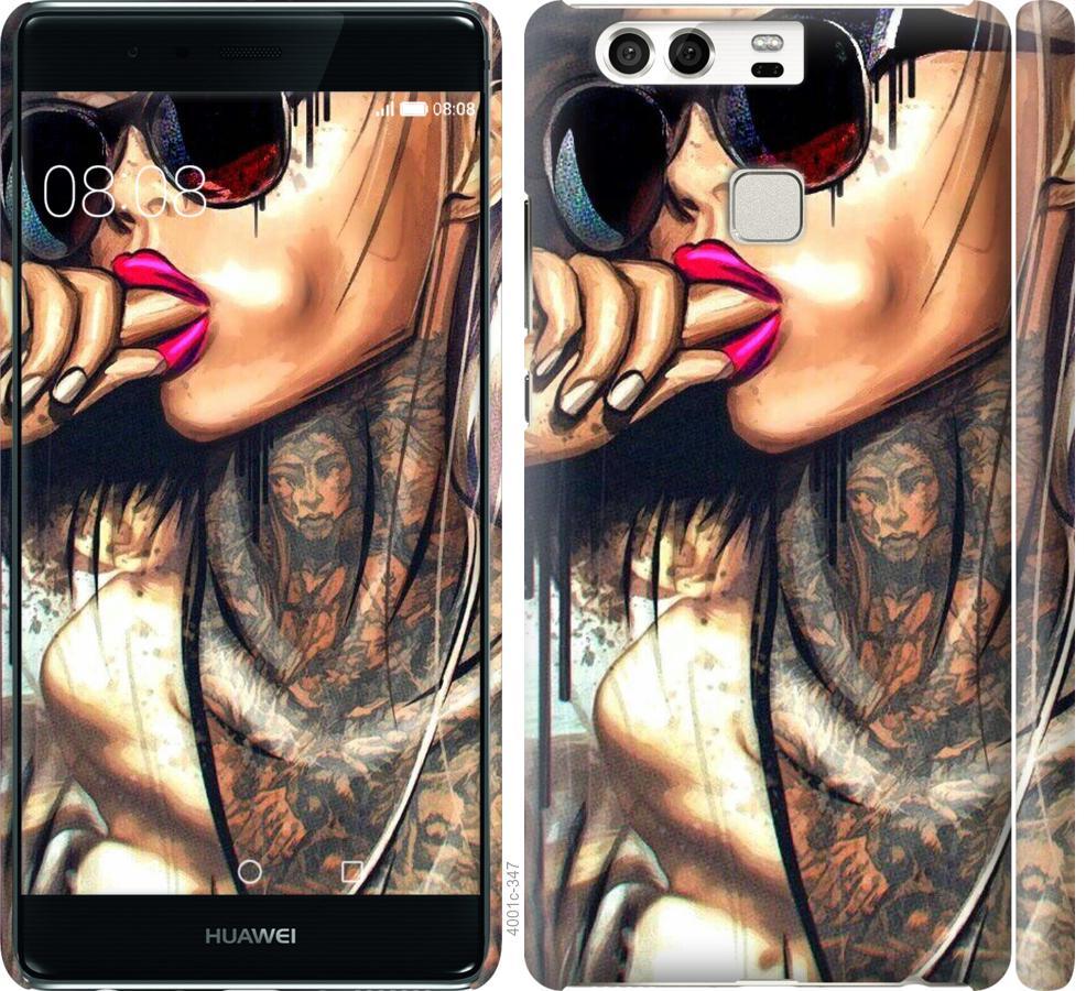 Чехол на Huawei P9 Девушка в тату