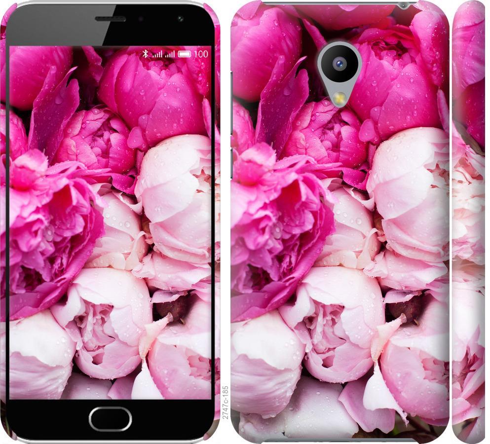 Чехол на Meizu M2 Розовые пионы