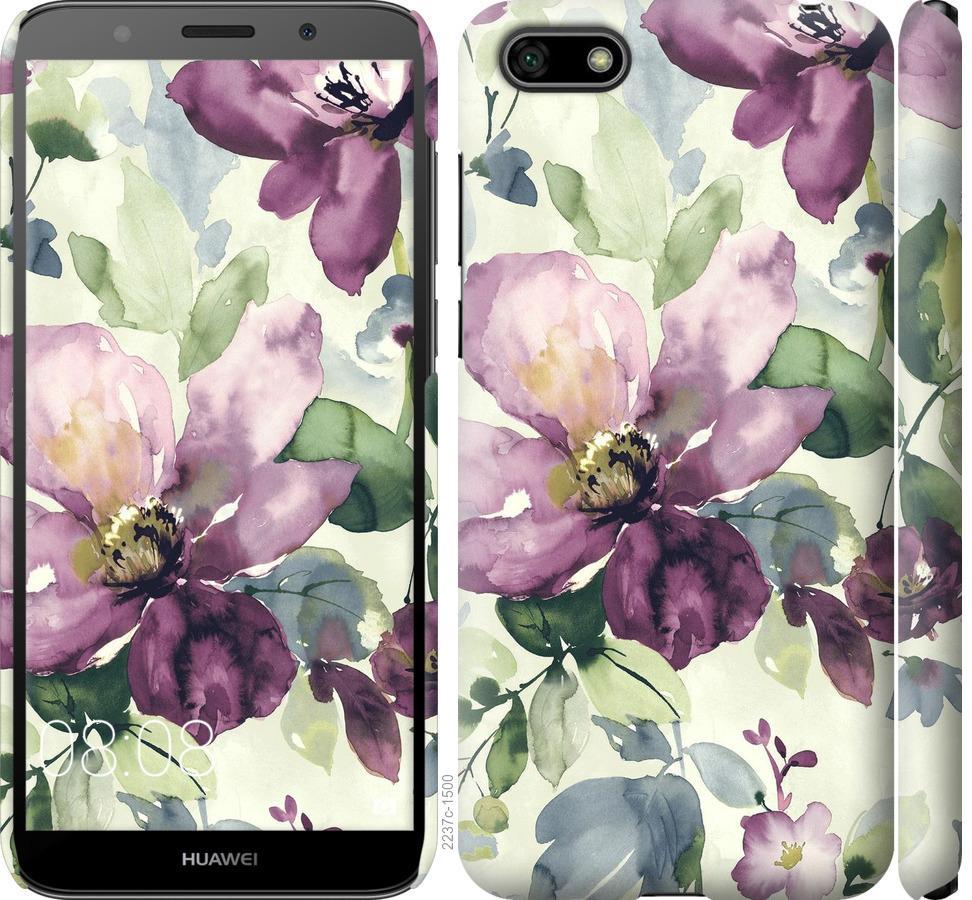 Чехол на Huawei Y5 2018 Цветы акварелью