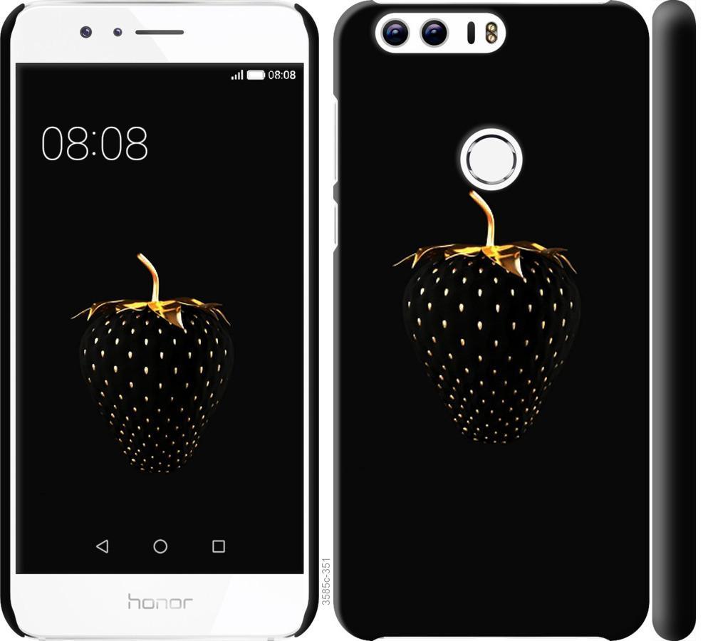Чехол на Huawei Honor 8 Черная клубника
