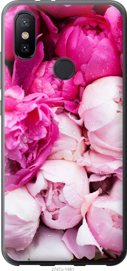 Чехол на Xiaomi Mi Mix 3 Розовые пионы
