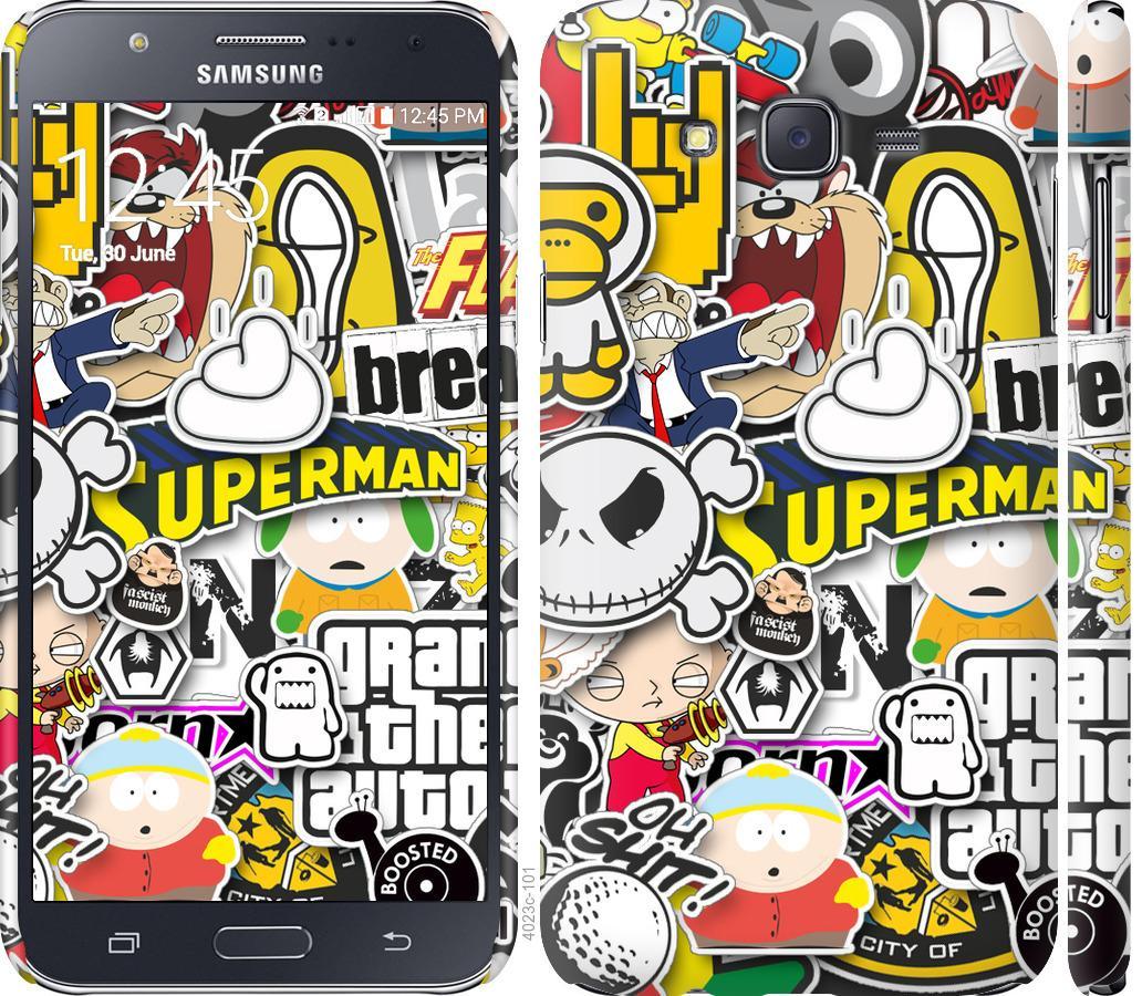 Чехол на Samsung Galaxy J7 J700H Popular logos