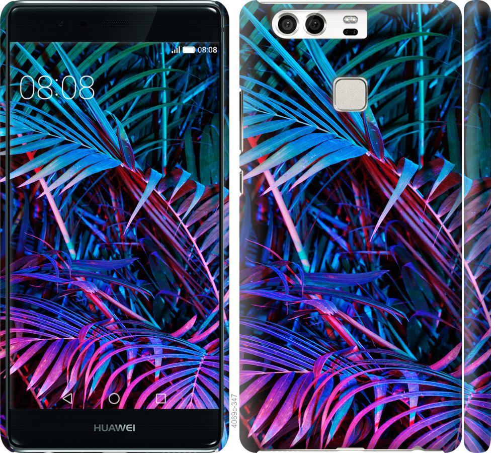 Чехол на Huawei P9 Папоротник под ультрафиолетом