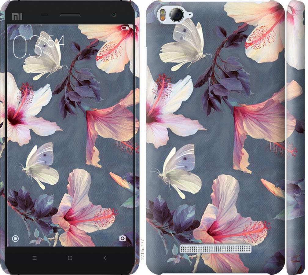 Чехол на Xiaomi Mi4i Нарисованные цветы