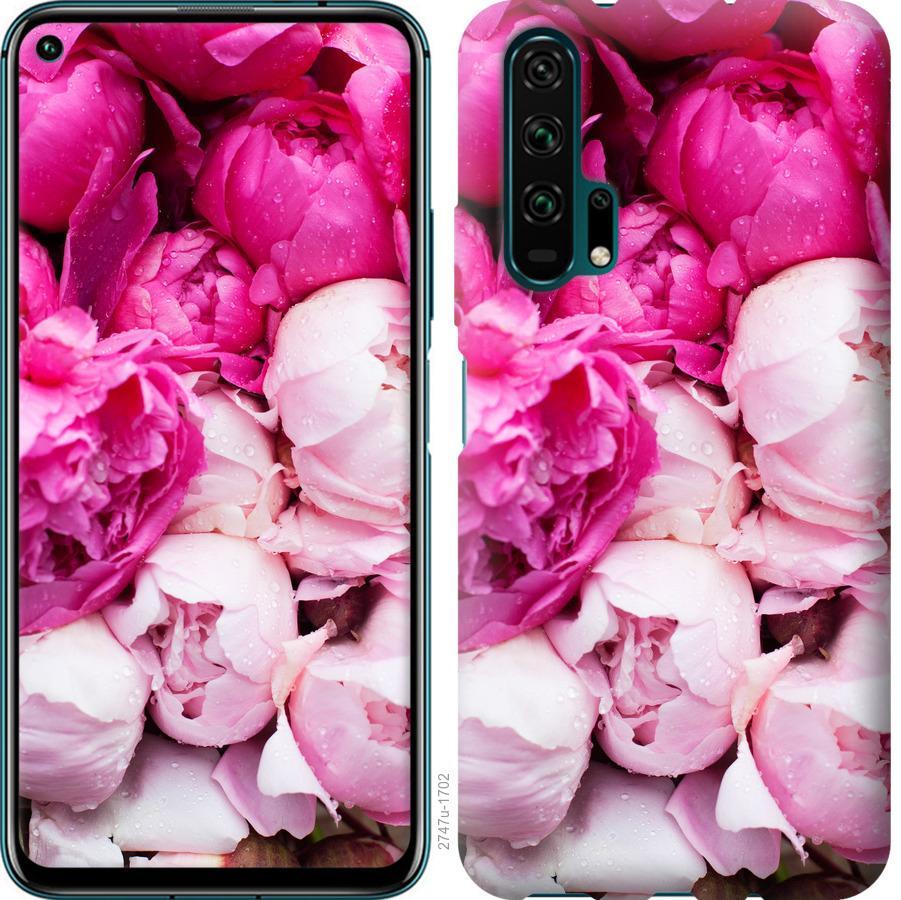 Чехол на Huawei Nova 6 Розовые пионы