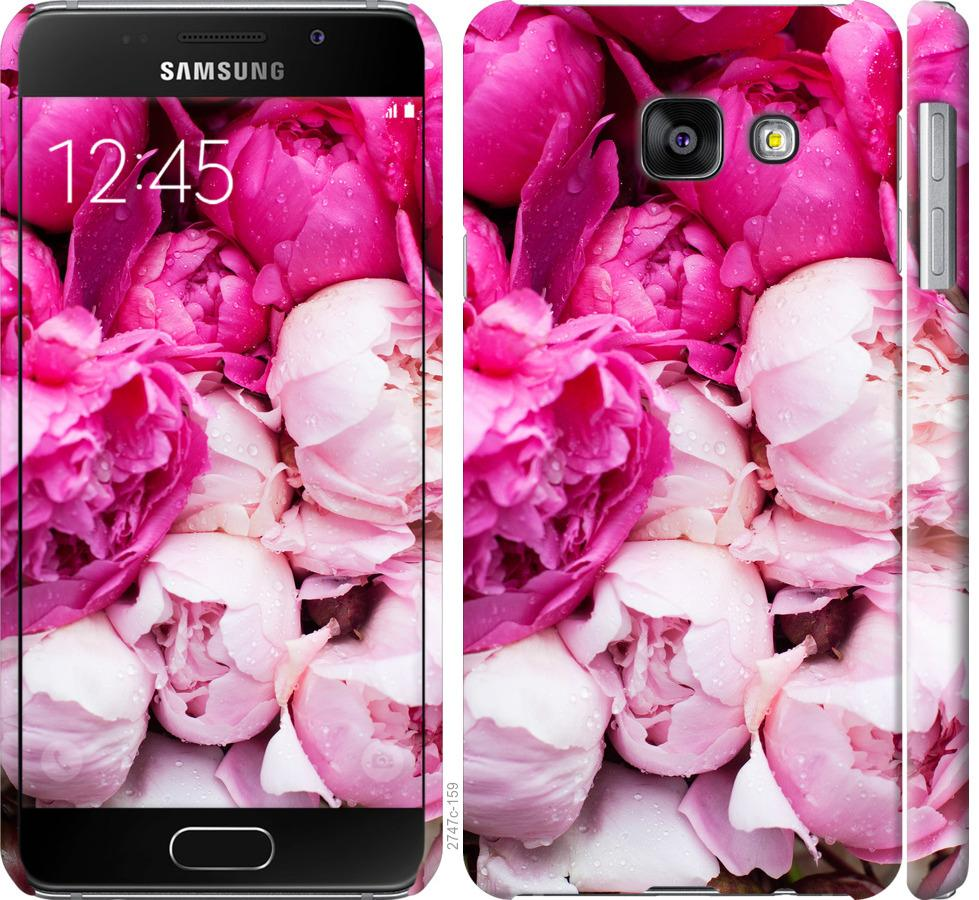 Чехол на Samsung Galaxy A3 (2016) A310F Розовые пионы