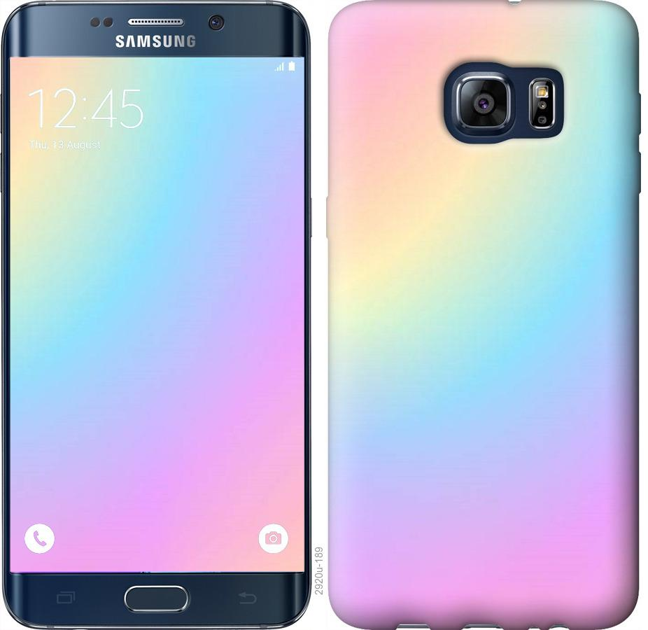 Чехол на Samsung Galaxy S6 Edge Plus G928 Радуга 2