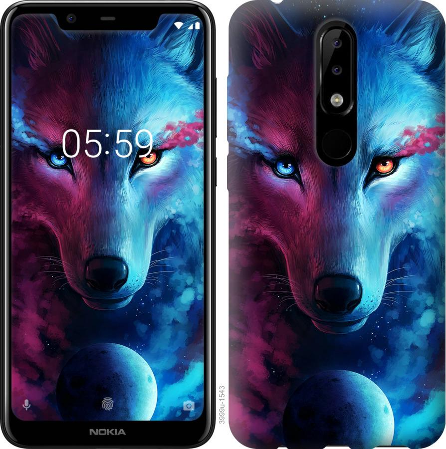 Чехол на Nokia 5.1 Plus Арт-волк